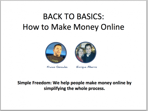 Back to Basics How to Make Money Online