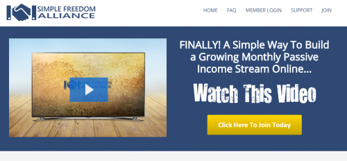 Simple Freedom Alliance Internet Marketing Coaching Program