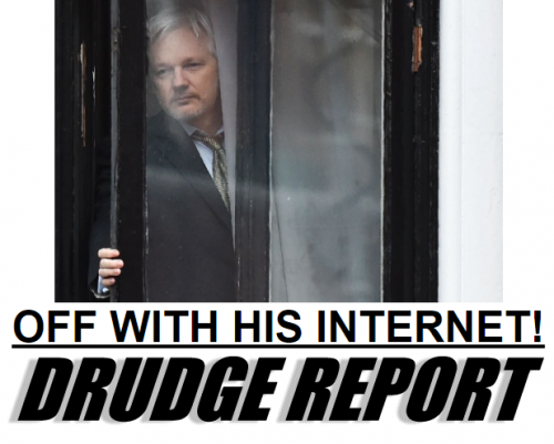 WikiLeaks Julian Assange Silenced Loses Internet