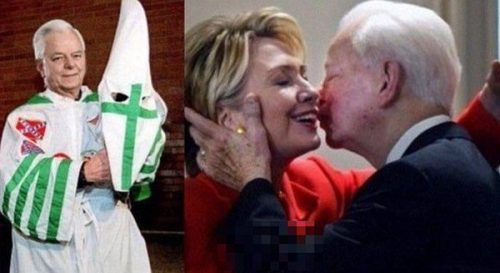 AltRightMeans Hillary Clinton with KKK Leader Robert Byrd