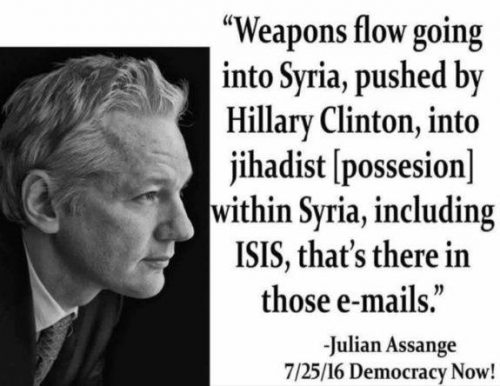 Assange-Hillary-Clinton-Syria-Libya-Weapons
