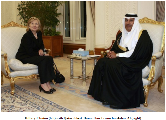Hillary Clinton with Sheik of Qatar