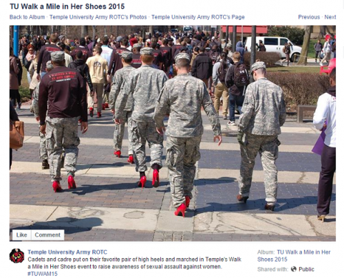 Army Red High Heels Toxic Masculinity Beta Male Emasculation of American Men