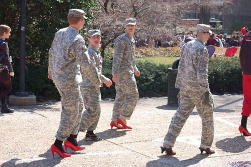 Army Red High Heels Toxic Masculinity Beta Male Emasculated American Male Feminized Men