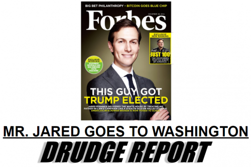 Drudge Report Mr Jared Goes to Washington