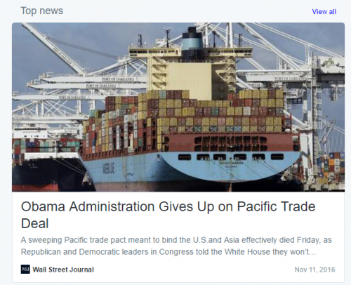 Obama Quits on TPP Trans-Pacific-Partnership