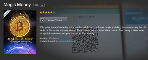 Magic Money The Bitcoin Revolution Documentary on Amazon