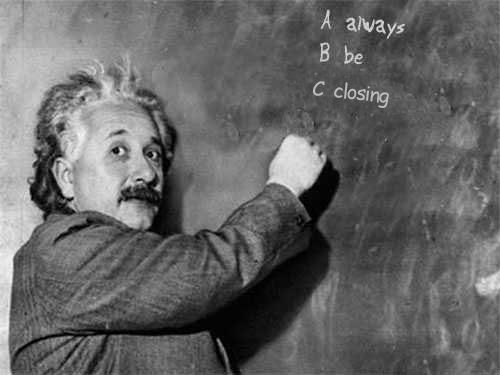 Einstein Always Be Closing Simple Freedom Affiliate Marketing Training