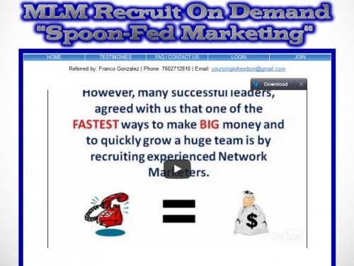 MLMRecruitingOnDemand Lead Generation and Prospecting System