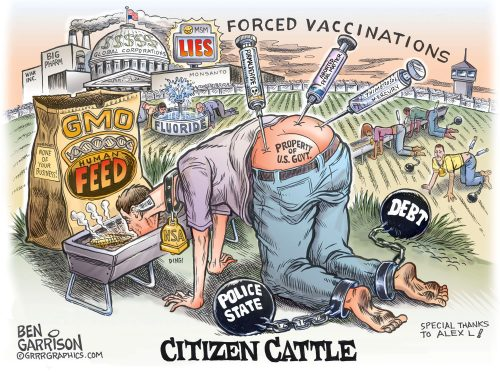 Ben Garrison Citizen Cattle Liberty Movement Simple Freedom Infowars