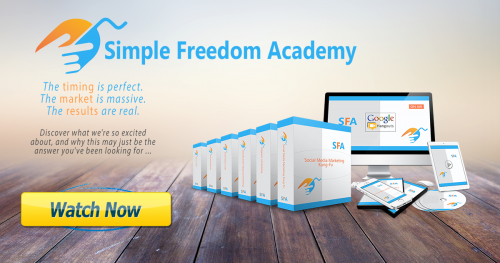Simple Freedom Academy Marketing Funnel Launch