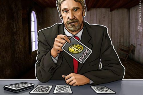John McAfee Bitcoin $500,000 in 3 years Simple Freedom Bitcoin