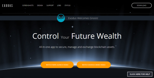 Exodus wallet Bitcoin Cryptocurrency wallet