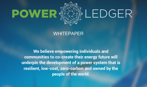 Power_Ledger_Whitepaper Power Ledger POWR Blockchain Cryptocurrency Climate Change Green Energy Solor Wind Energy Trading Platform