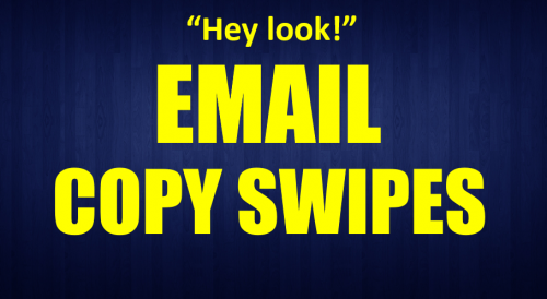 Email Copy Swipes Email Marketing Training Sample Follow Emails