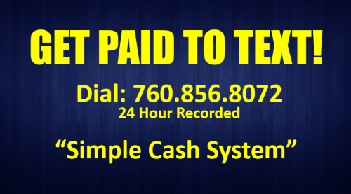 Get Paid to Text SMS Smart Phone Marketing System Simple Freedom