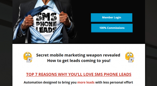 SMSPhoneLeads SMS Phone Leads Simple Freedom Smart Phone Marketing Leads