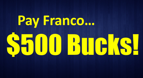 Simple Freedom 500 Pay Franco 500 bucks Simple Freedom Academy