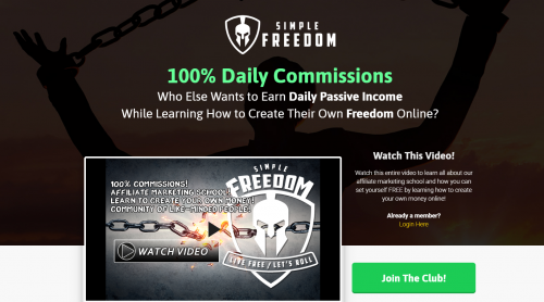 Simple Freedom Club Affiliate Marketing School Internet Marketing MGTOW Motorcycle Club Las Vegas