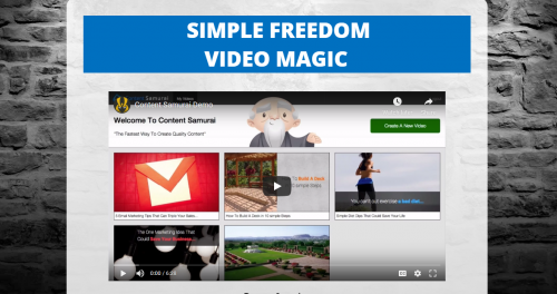 Content Samurai Video Marketing Simple Freedom Cash Club MGTOW Home Business Passive Income Content Marketing System