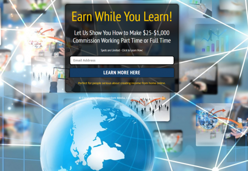 Earn While You Learn Simple Freedom Club Affiliate Marketing School MGTOW Passive Income Home Business Internet Marketing Direct Response Marketing Training
