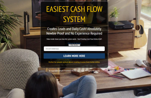 Lead Lightning Sales Funnel Simple Freedom Cash Club MGTOW Home Business Passive Income Program
