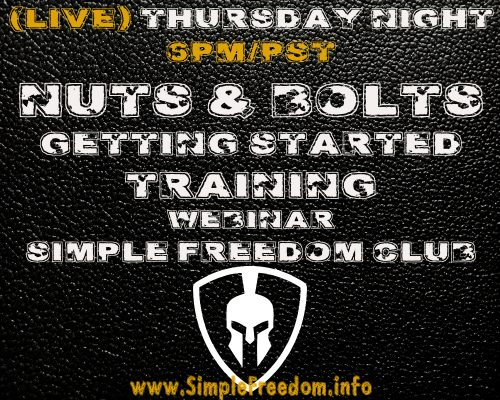 Simple Freedom Club Nuts and Bolts Getting Started Training Live Webinar Tuesday Nights